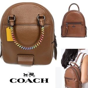 Coach Rainbow 🌈 Stitching Saddle Brown BackPack